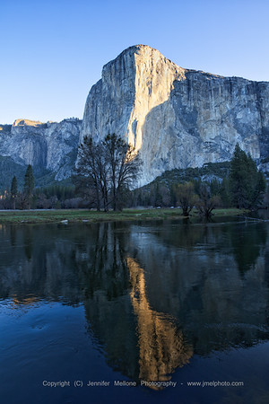 Early Morning El Cap Light Reflection