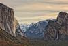 Tunnel View with Stratus Clouds in the Winter - Color