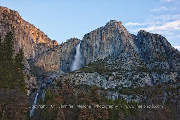 Sunrise Yosemite Falls Partial Lightup