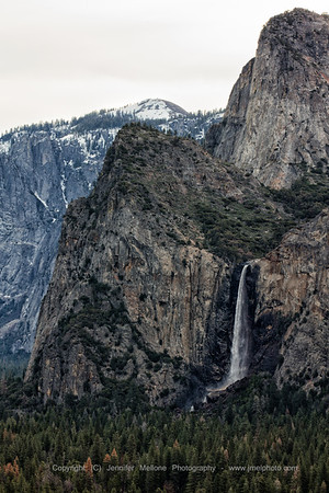 Bridalveil Fall Flowing in the Winter