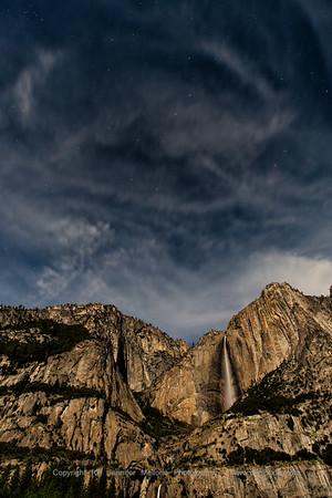Big Dipper in Clouds over Yosemite Falls