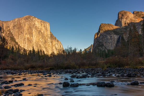 Yosemite Valley with Flowing River
