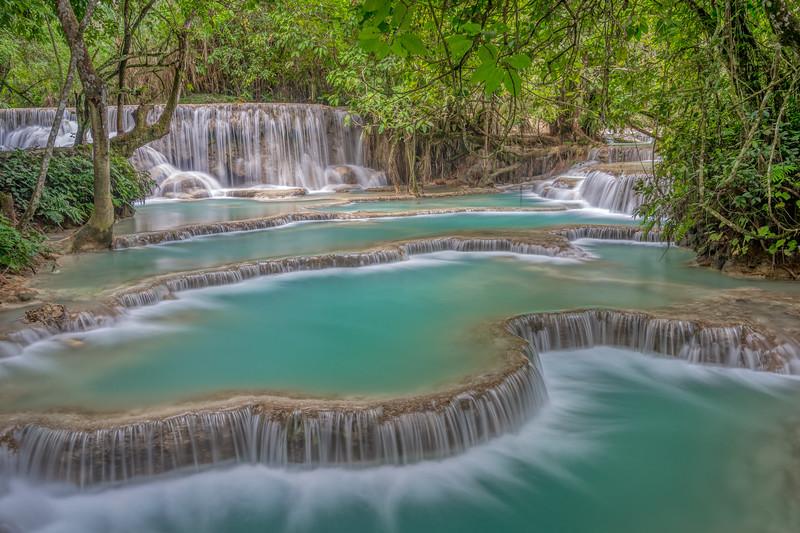 Terraced pools at Kuang Si