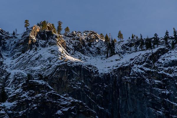 Yosemite Mountain Ridge in Winter