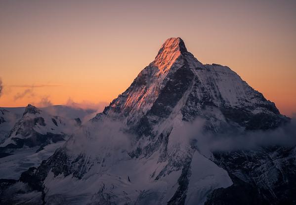 Matterhorn at sunrise from the Dent Blanche, Switzerland