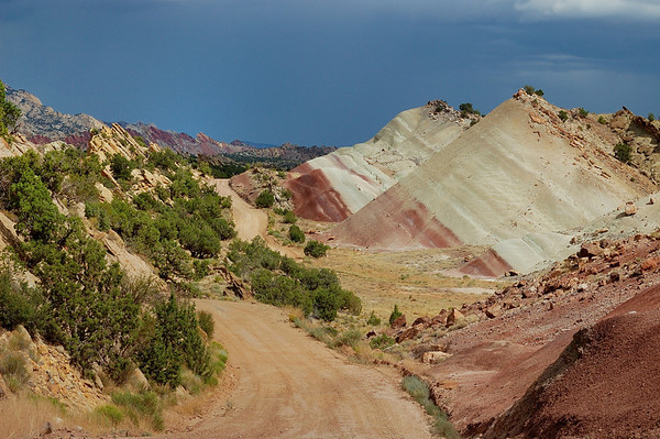 The backroad through Capitol Reef
