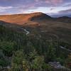 Sunset on the north side of Denali National Park, Alaska