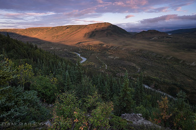 Sunset on the north side of Denali National Park, Alaska