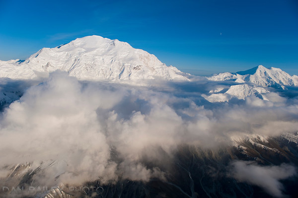 Aerial Photo of Denali (Mt. McKinley) Alaska Range, Denali National Park, Alaska