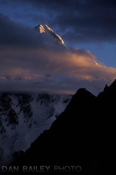 Sunrise on K2, Karakoram Himalayas, Pakistan