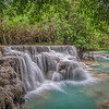 Middle Falls at Kuang Si Waterfall Laos