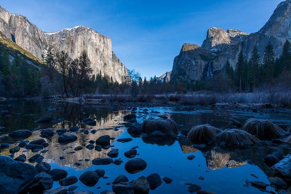 Yosemite Valley View in December