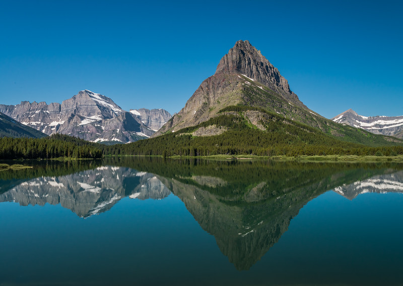 Mountains along Swiftcurrent Lake