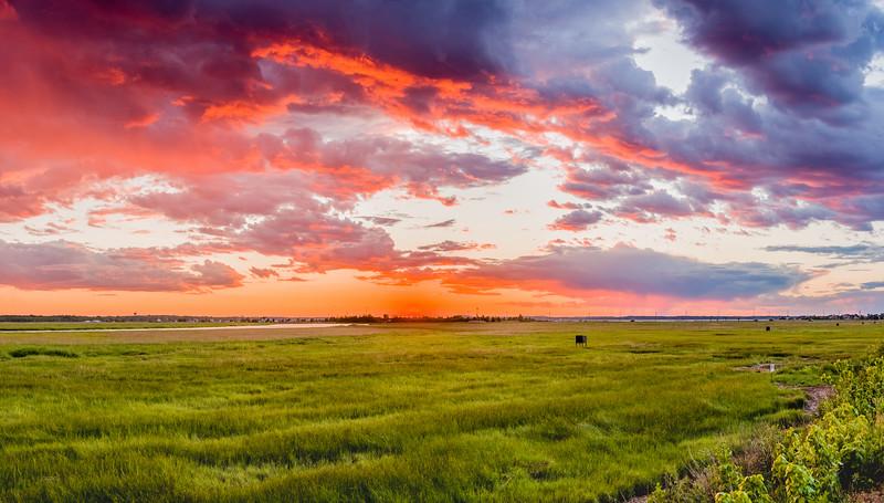 Sunset Over Parker River Wildlife Refuge