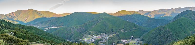 View from the Nakahechi Route, Kumano Kodo Pilgrimage, Japan