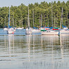Boats on Lake Massebesic, NH