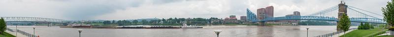 Cincinnati's Ohio River and Brent Spence Bridge