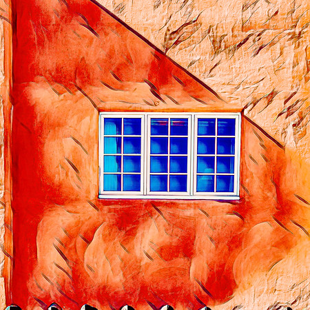 Santa Fe Wall and Windows #2