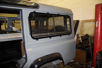 Grilles on side and rear windows for added security.