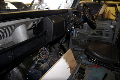 Wiring and electrical work still required in dash.