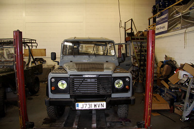 My Defender on 20th July 2012 - still a lot of work to be done to complete it!