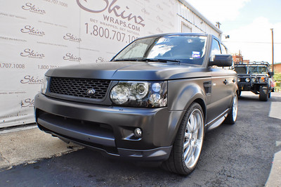 Skinzwraps Matte Black on a Range Rover in Dallas, TX  www.skinzwraps.com
