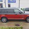 2015 Range Rover Sport half burgundy color change done by SkinzWraps Inc​ in Dallas Tx!