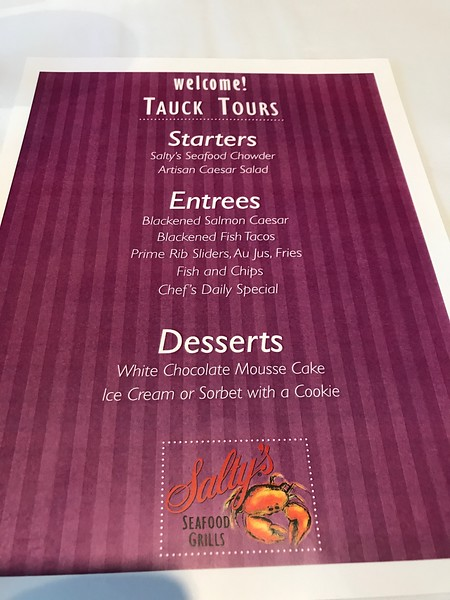 "Here's a menu showing you our lunch options that day and the following pics show you some of the delicious food we enjoyed... are you starting to see yet why they nickname this tour ""A Taste"" of the Pacific Northwest! :-)"