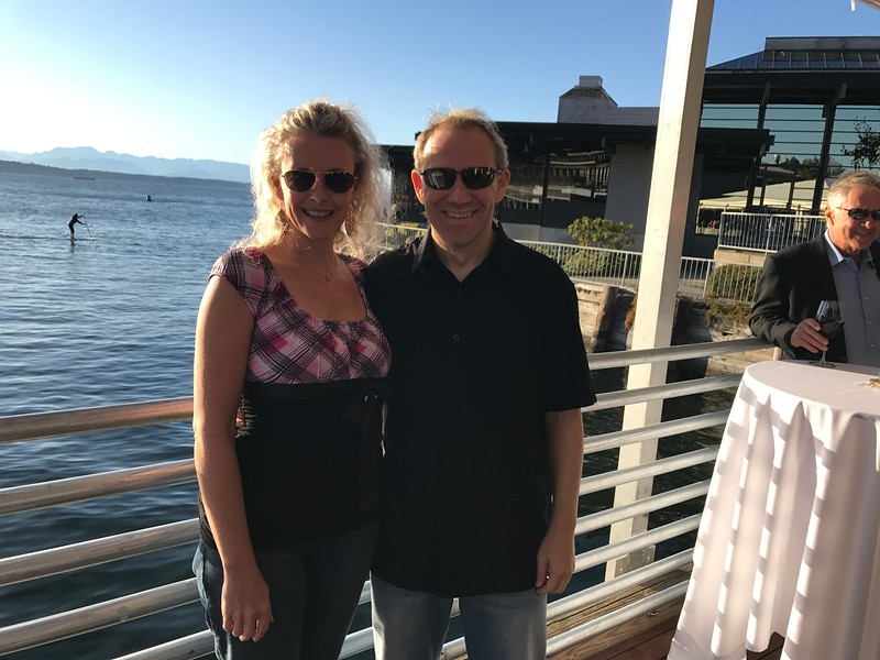 """To end our fun couple of days in Seattle we ended it off in style by enjoying a reception, dinner and Beautiful Sunset at """"Ray's""""... a perfect location to give you a good feel for what the Westcoast Lifestyle is all about! Here's some pics of that nice evening."""