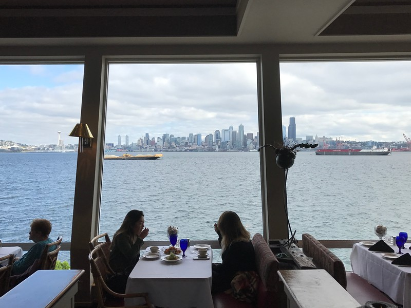 "Speaking of Seattle, before we explored the city and settled into our hotel we were treated to a yummy lunch at ""Salty's"" which has one of the best views of the City!"