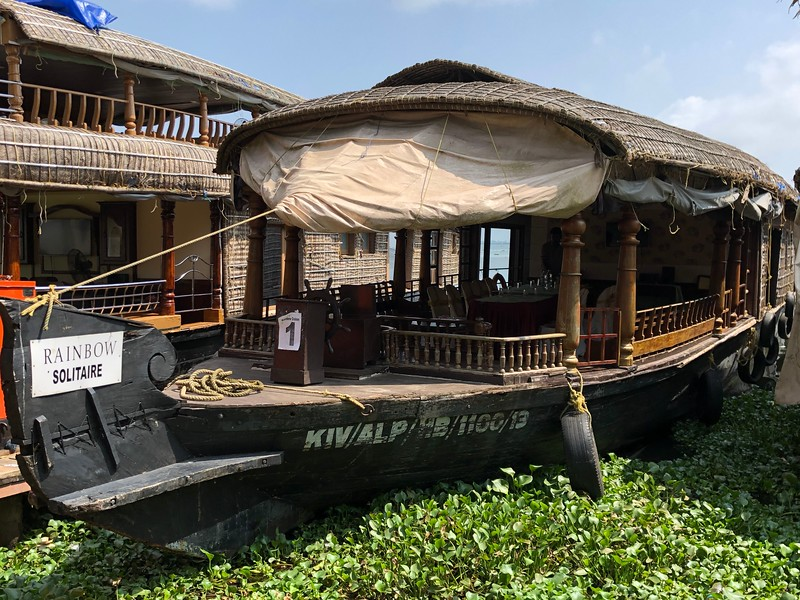 """After our time in Kochi we enjoyed our most unexpected highlight of the trip where we went to stay at the Luxurious """"Kumarakom Lake Resort"""". (we showed you our """"Swim Out"""" pool from our room earlier)<br /> <br /> That was a great 2 days where we enjoyed a several hour boat ride/lunch through some very scenic waterways to get to the resort... then, once there, we enjoyed 2 nights of entertainment (1 night was dinner under the stars & a traditional Dance performance/the other night was a Martial Arts demonstration) and what was one of the BEST experiences of our trip we visited some small villages where they still very much live off of the land.<br /> <br /> We visited their homes, saw how they make things from scratch like rope out of coconut, we learned how they dress, etc. Shawn even learned how to climb a Coconut tree! :-)<br /> <br /> Overall we had a REALLY NICE 2 days when visiting this remote region of Southern India!!"""
