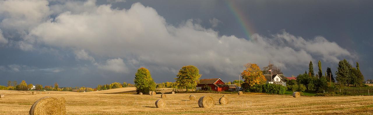 Høstlandskap over Vestli