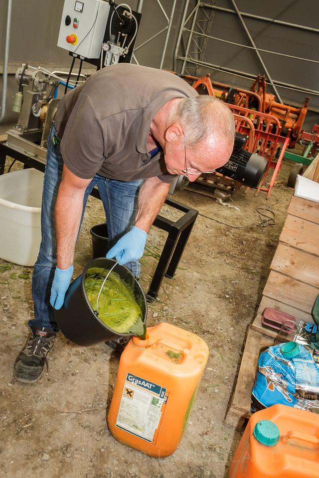 Grasvannet blandes m 1% maursyre og blir lagringsdyktig.
