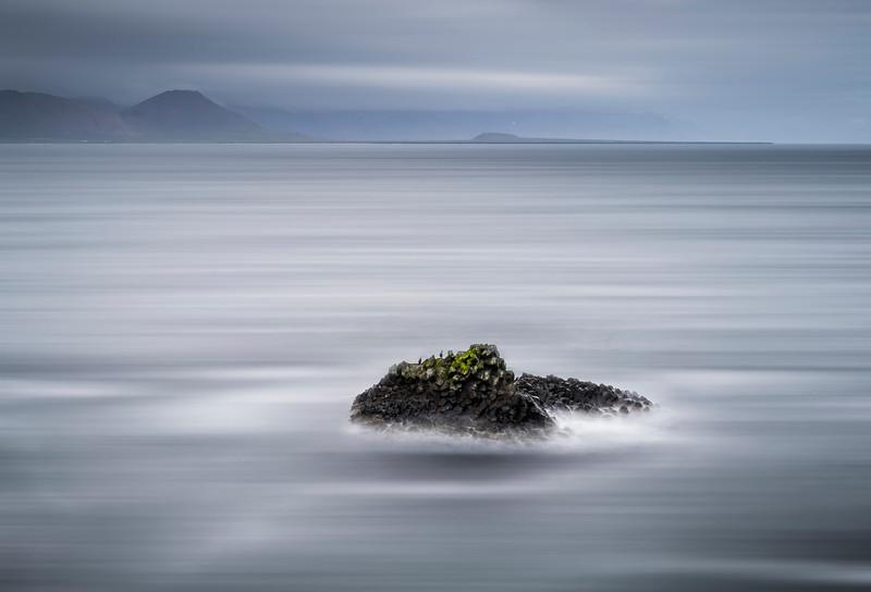 Small bird cliff in the sea, Arnarstapi, Snaefellsnes Peninsula, Iceland