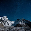 A sky full of stars above the Khumbu glacier in Nepal