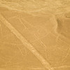 "Aerial view of the ""Whale"" at the mysterious Nazca lines in the pampa plateau desert in Peru."