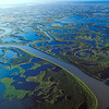 The 50 kilometer-wide Mackenzie Delta at the mouth of the Mackenzie River near Inuvik, Northwest Territories, Canada