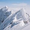 Mountain range, snowcapped mountain top, Zugspitze, Bavaria, Germany