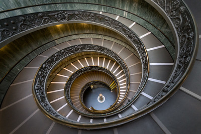 Down the Bramante Steps, Vatican City