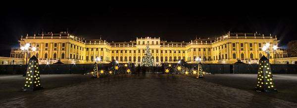 Schönbrunn Palace, Vienna, at Christmas Time