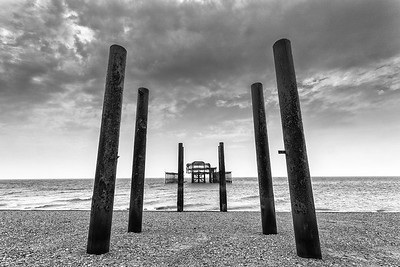 The Old Brighton Beach Pier, England