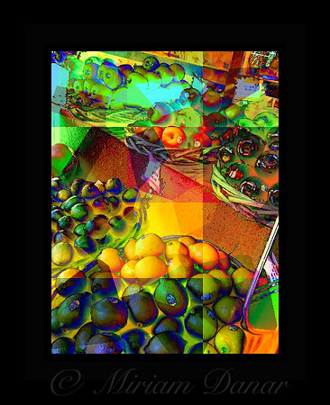 Fruit Collage - from the Street Vendors of New York City