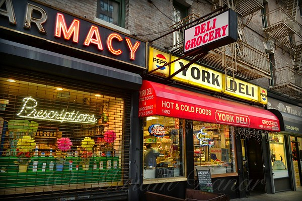 Old Shop Windows and Storefronts - New York City Street Scene