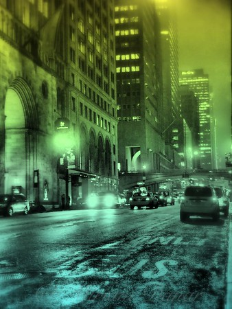 10 PM on 42nd Street - New York City at Night - Colorized