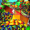 Fruit Collage, Courtesy of the Street Vendors of New York City - no border