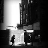 Girl Walking - Noir - New York City Street Scene