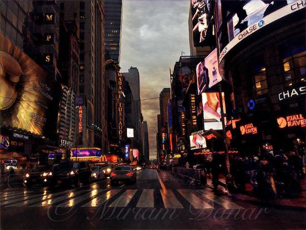 Winter Rain in New York