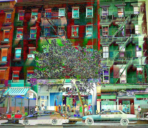 Walkups in Red and Green - Picturesque New York
