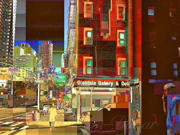 East Side Story - New York City Street Scene - Noir, in Color
