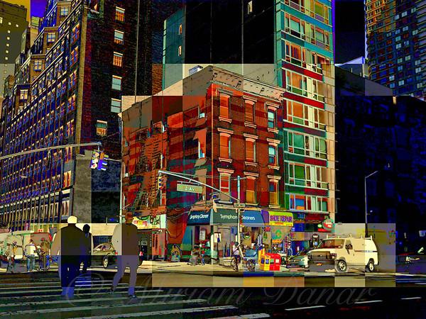 City Corner No. 2 - New York City Street Scene